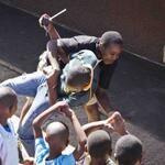 Nhlaka rugby tackles Sizwe at Jabulani Kids Club. #classic #Brothers  iThemba Projects (iThembaProjects) on Twitter