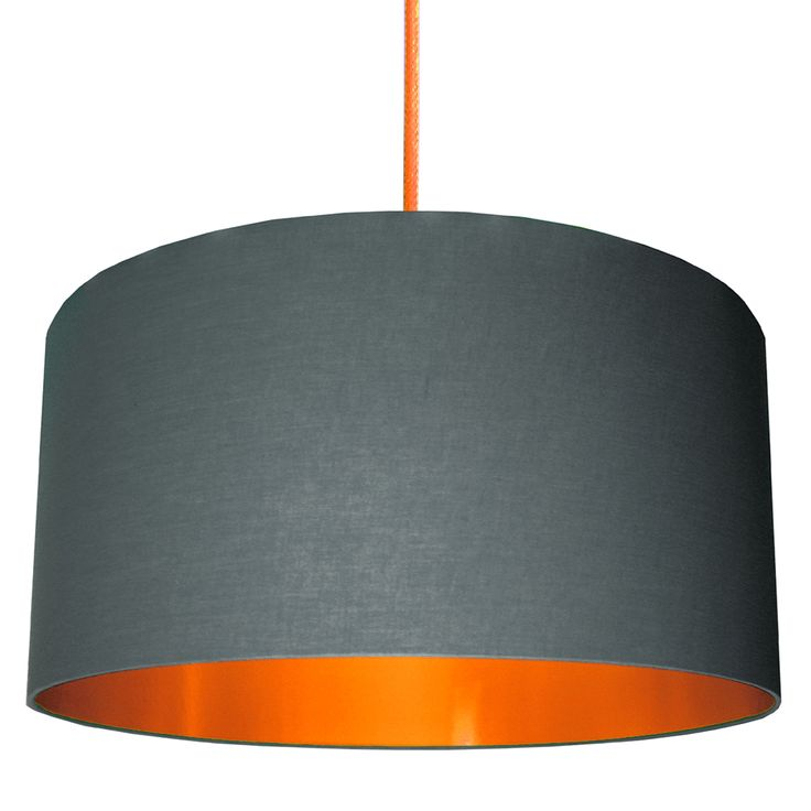 Our bestselling Slate grey and copper lampshade is made from ethically sourced slate grey cotton and copper lining, we're sure the lampshade will match all decors providing an understated lighting choice with a stunning lighting effect from the copper lining.  Love Frankie lampshades are made using a high quality flame retardant PVC and an extensive range of sumptuous fabrics. Our frames are made with a 39mm European ring fitting with a 29mm UK reducing ring already fitted that will pop in…