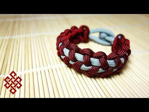Stitched Solomon Bar Paracord Bracelet Tutorial - YouTube