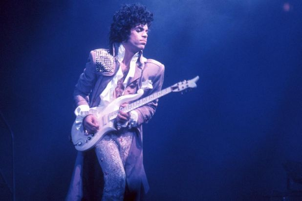 Prince at the Fabulous Forum on February 19, 1985 in Inglewood, California.