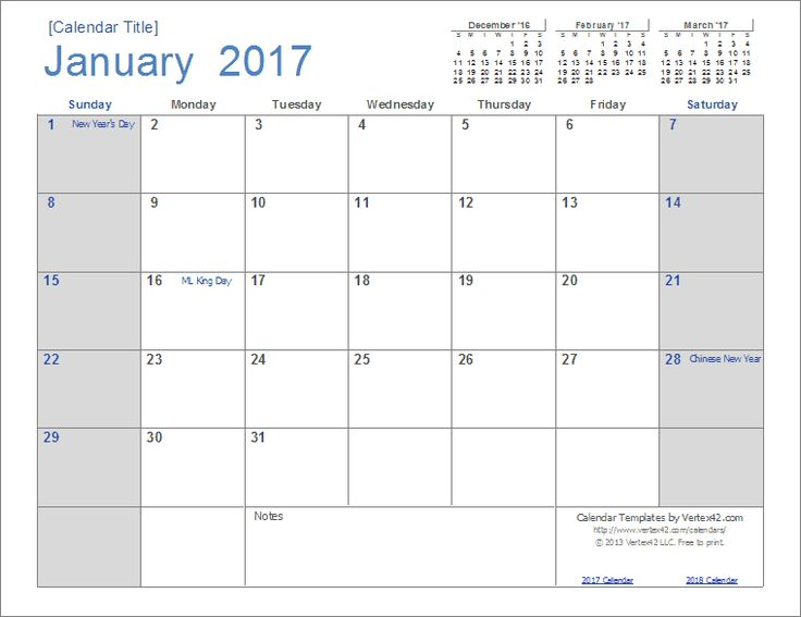 Best 25+ January 2017 calendar template ideas on Pinterest - preschool calendar template