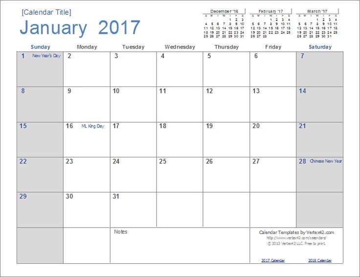 25+ unique Calendar templates ideas on Pinterest Free calendar - annual calendar template