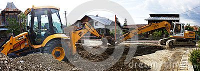 Excavator And Backhoe - Download From Over 46 Million High Quality Stock Photos, Images, Vectors. Sign up for FREE today. Image: 54901439