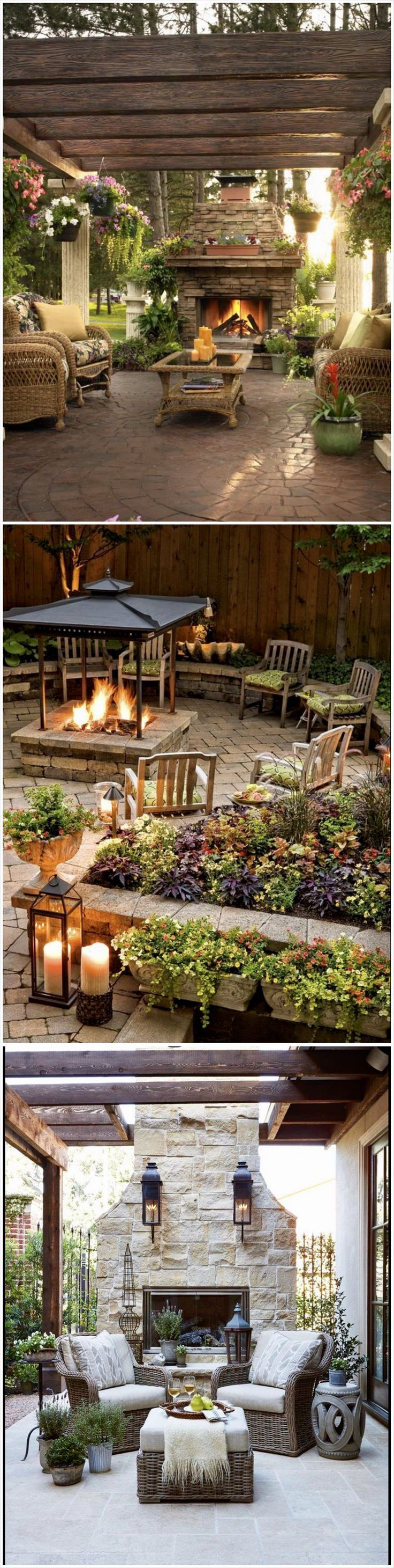 Best 25 backyard paradise ideas on pinterest traditional outdoor string lights small - Types fire pits cozy outdoor spaces ...