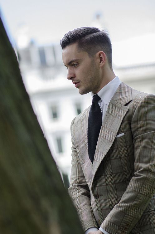 Another snap of Adam Titchener during London Collections: Men