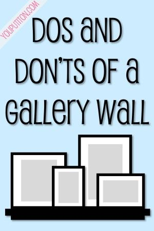 Wall Arrangement dos and dont's of a gallery wall
