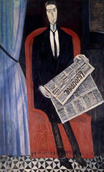 Портрет неизвестного, читающего газету. Андре Дерен