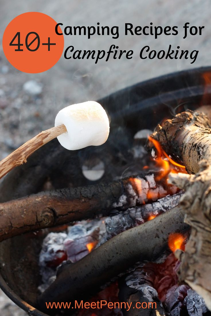Campfire cooking? Are you looking for camping recipes? Check out this round up of breakfast, lunch, dinner, and dessert recipes perfect for camping.