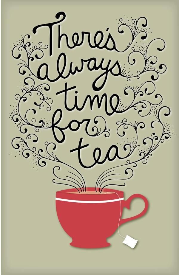 It is tea time somewhere.