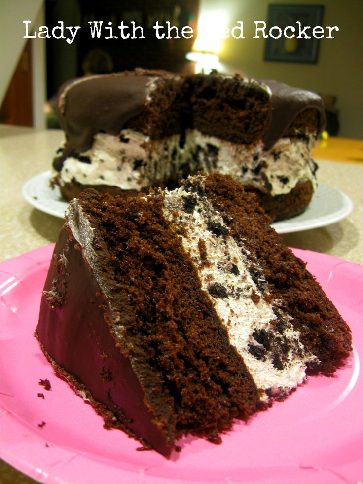 Chocolate Oreo-Cream Birthday Cake | ~Lady With The Red Rocker~