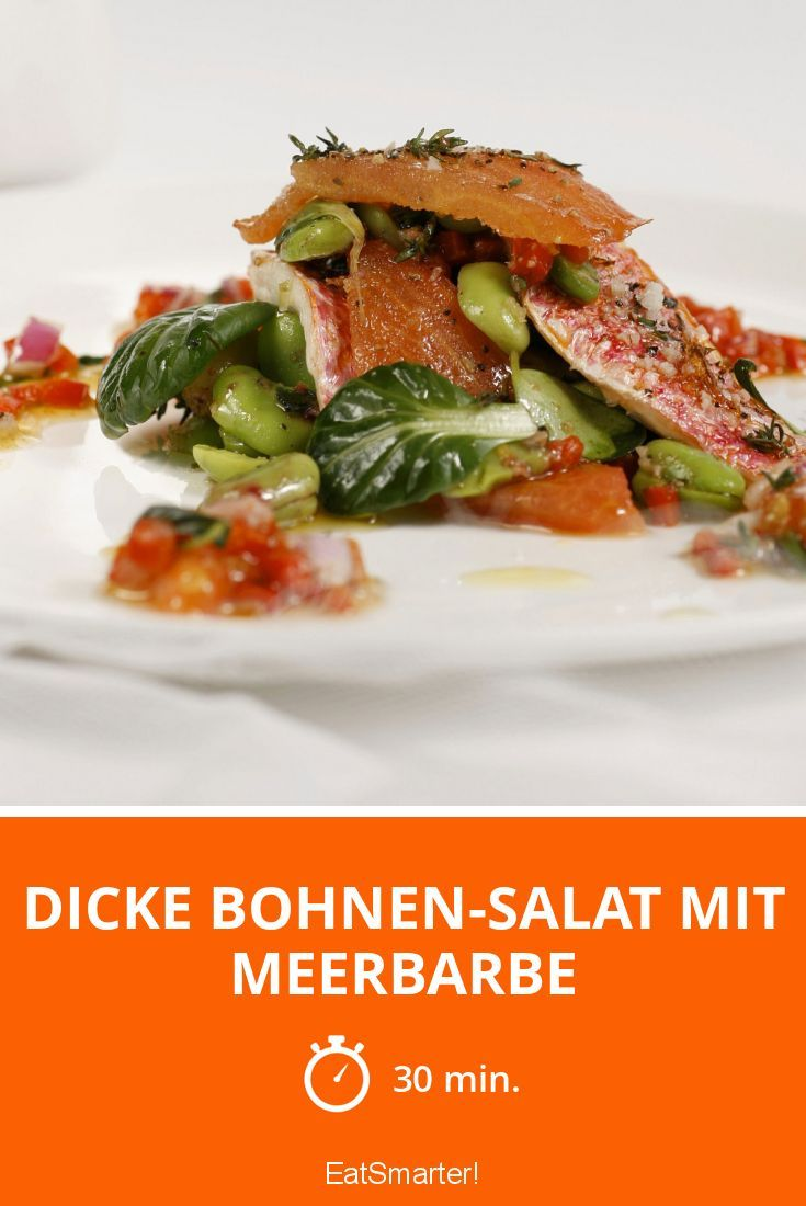 Dicke Bohnen-Salat mit Meerbarbe - smarter - Zeit: 30 Min.   eatsmarter.de