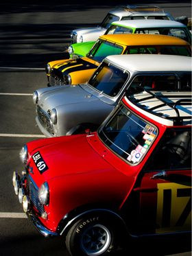 Classic Mini Coopers - Classic Mini Cooper..its not a design flair..not a stylish one..but still wonder how this cute ones have more fan following...