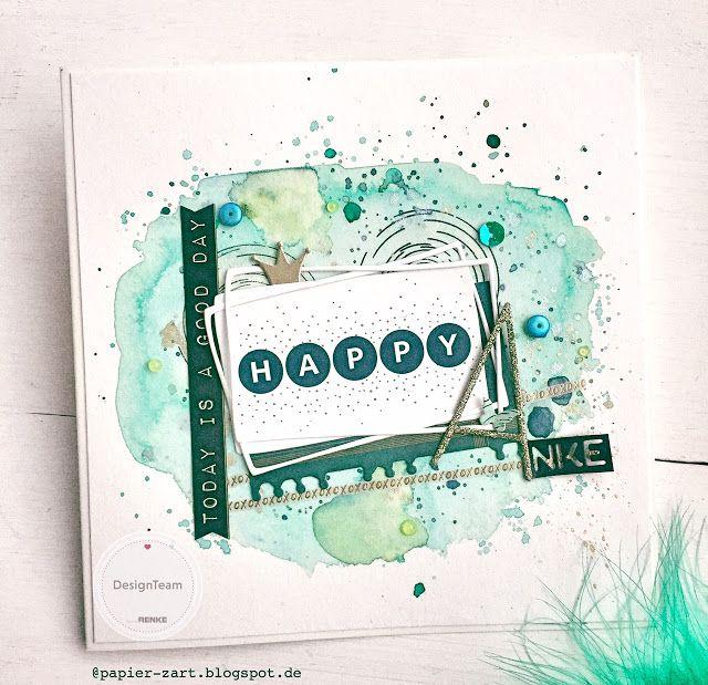 papierZART: Greenery Welcome Card, Happy Welcome, Willkommenskarte, Alexandra Renke, aRTeam, Designteam, Kärtchenwoche