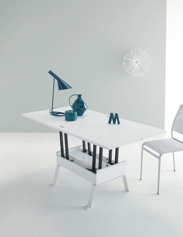 tavolo trasformabile multifunzione bianco