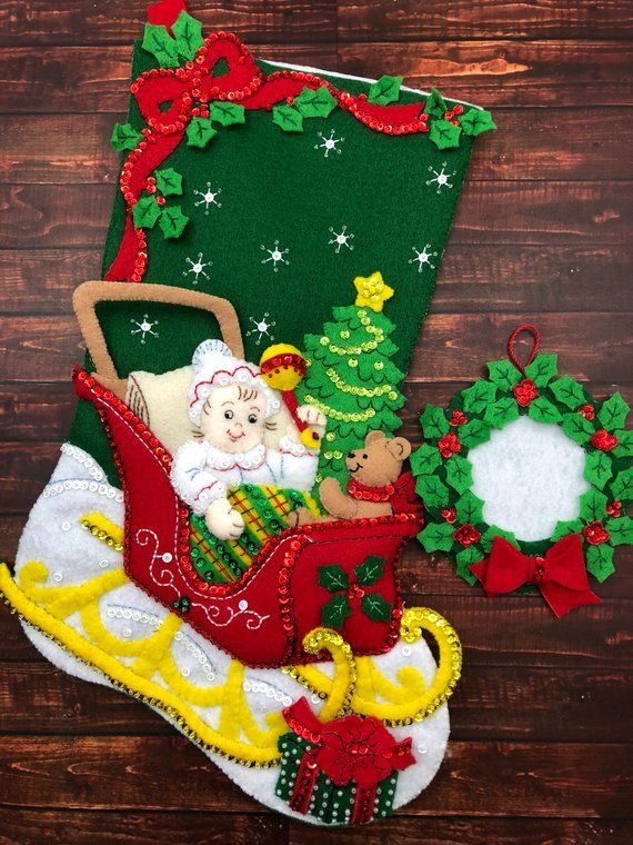 Bucilla Christmas Stocking - Completed Christmas Stocking -Finished