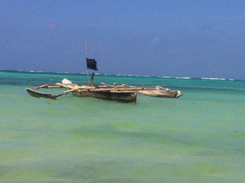 Tanzania - Raft on the Tanzania's sea