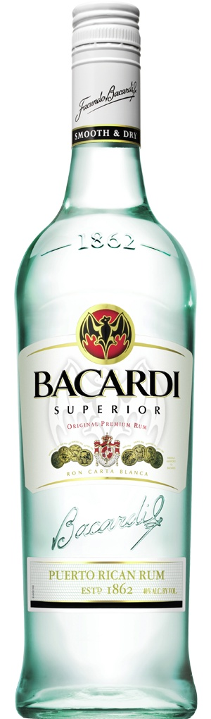 BACARDI SUPERIOR -    Originated in 1862, BACARDI® Superior is the original rum, aged between one to two years in carefully selected oak barrels. After ageing, the rums are blended and passed through a second charcoal filtration to achieve maximum clarity BACARDI smoothness.