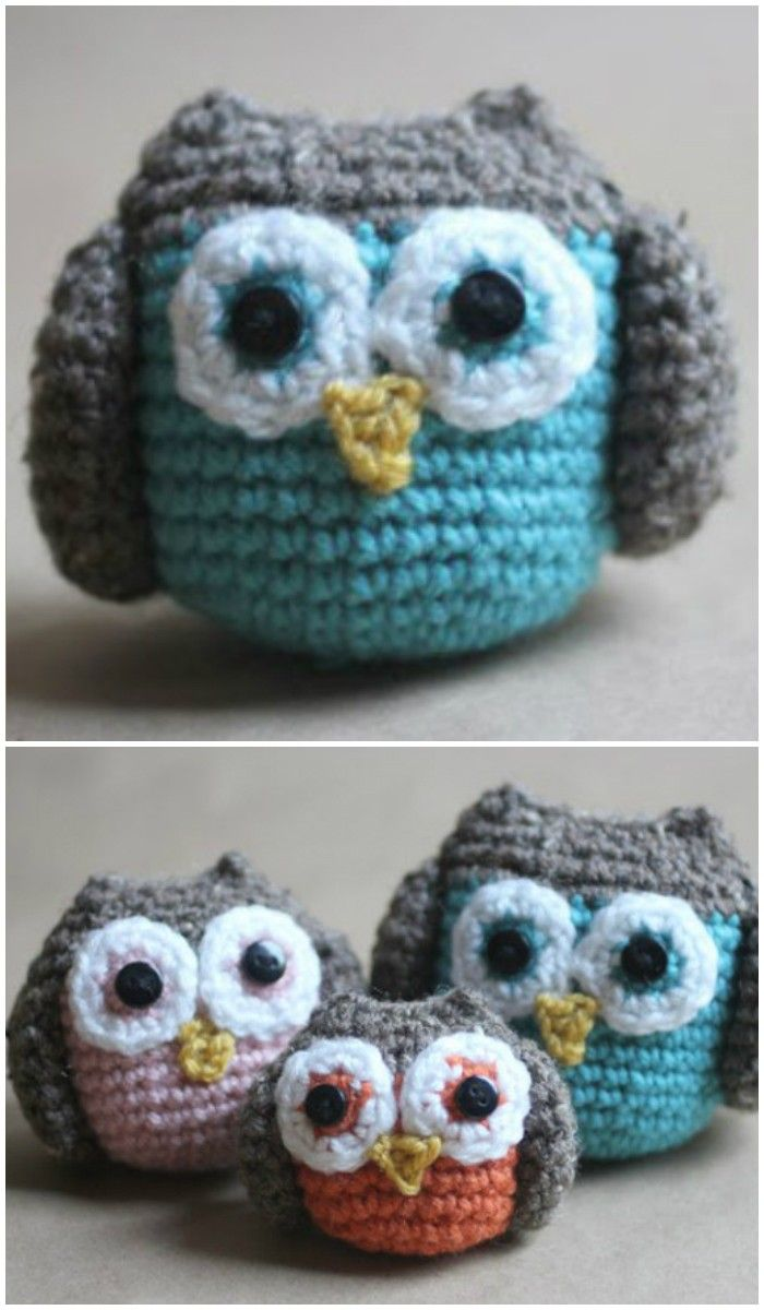 I have ghathered 20 crochet owl patterns-how to crochet owl patterns that wil realli inspire you!Crochet Owl Family Amigurumi