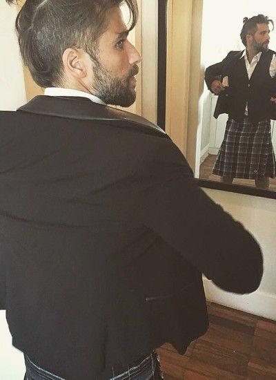 Bruno Gagliasso vestirá uma kilt, saia típica da Escócia, tradicionalmente usada sem cueca (Foto: Divulgação)