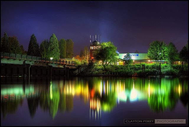 Amazing photo from Brea Island looking back at Fort Langley.