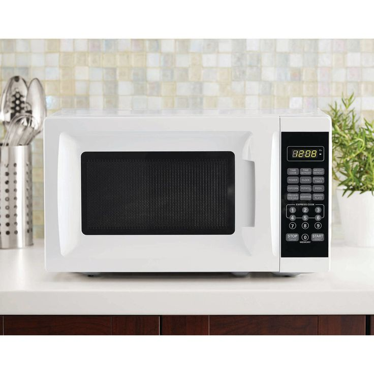 700-watt Microwave Oven 10 Power Levels 6 Quick-Set Menu Buttons LED Display  #Mainstays