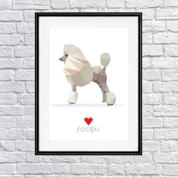 Plakat Poster Pudel My Love w Psiakrew na DaWanda.com
