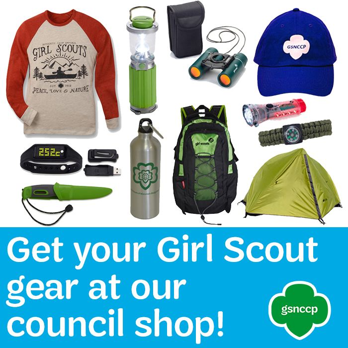 As you gear up for your next Girl Scout adventure, make sure to stop by our council shop! From hats to sweatshirts to water bottles, the Girl Scout Shop carries a wide variety of items for every girl Stop by or shop online!