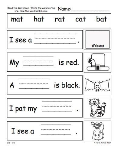 Free Kindergarten Phonics Worksheets Pdf