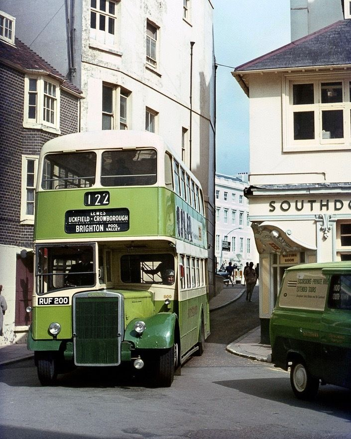 Southdown Leyland No800 Pool Valley Brighton 1967 10x8 Quality Bus Photo