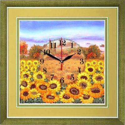 Часы. Желтое поле подсолнухов ЧНЛ-2006