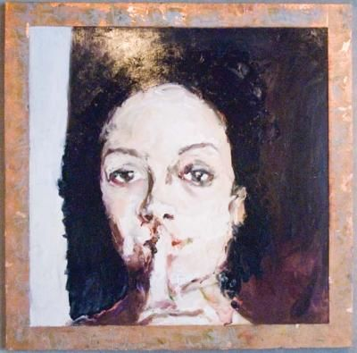 'Whispers' by Mark Gaskin. Beautiful encaustic and hand fashioned frames by the artist, this piece is stunning. Collect it for yourself at Chloe Fine Arts Gallery in San Francisco!
