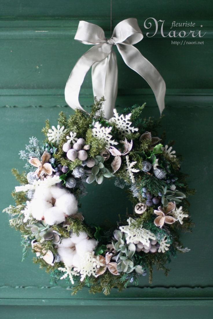 Christmas wreath 2013 クリスマスリース snowflake