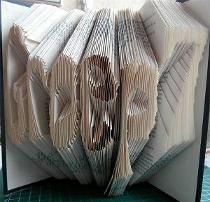 """Boekkunst tekst """"Groep7"""" Gemaakt in verband met een boek vouw les in groep 7"""
