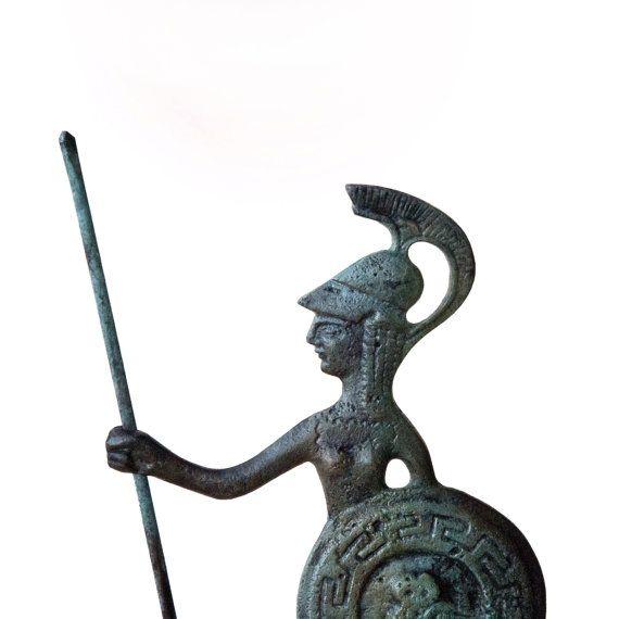 Greek Goddess Greek Key Verdigris Goddess Statue by GreekMythos