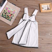 Девочка Платье Детская Одежда Лето Дети Одежда Девушки Пляж Стиль Одежды Белое Платье для Девочек Малыша