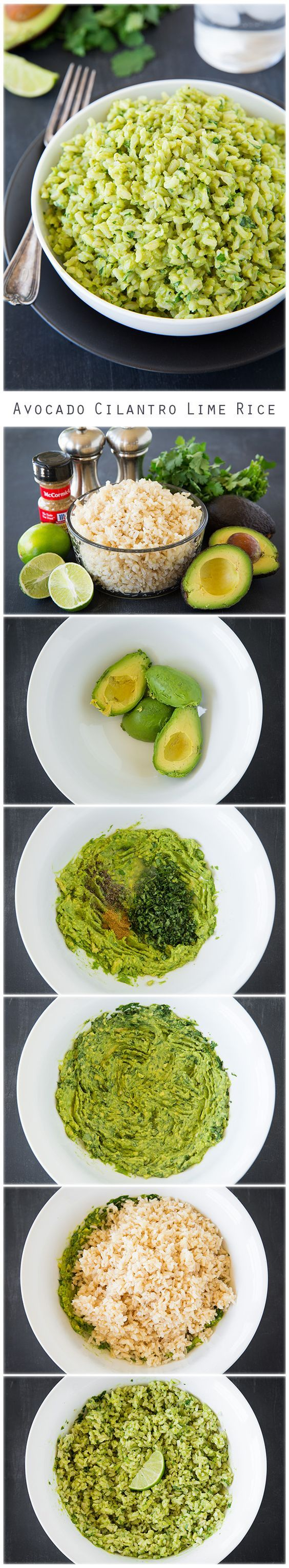 Avocado Cilantro Lime Rice - this rice is so easy to make! It's deliciously creamy  so healthy and tastes like guacamole!