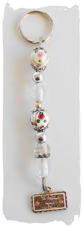 Wedding Beaded Key Rings #CherryChick