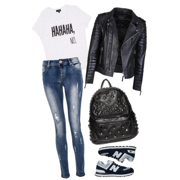 A fashion look from November 2014 featuring Quiz jeans and New Balance athletic shoes. Browse and shop related looks. #fashion #polyvore