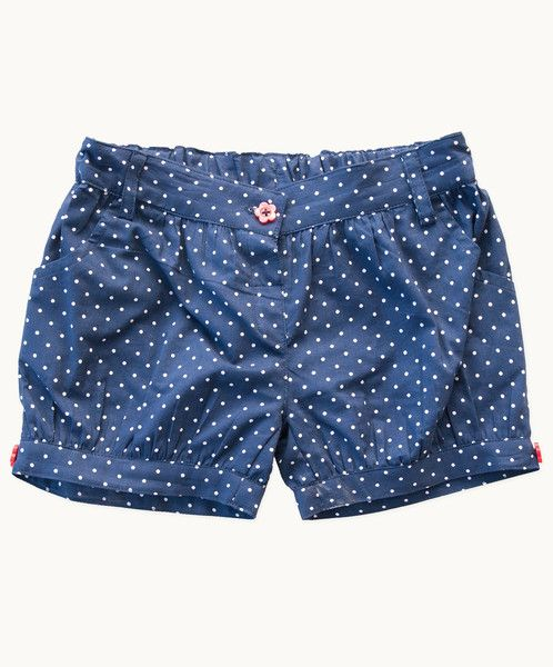 Our classic Betty Blue polka dot print shorts are just the ticket for adding a spring refresh to her wardrobe. As adaptable as they are pretty, this vibrant style can be worn over tights in cooler weather or teamed with sandals when the mercury rises.  Soft elasticised back waist for a great fit Very cool and comfortable An essential summer look! 100% cotton Cold machine wash, line dry, warm iron