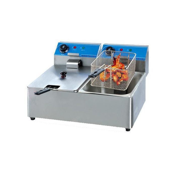 Hotel / Restaurants Table Top Industrial Deep Fryer Double Basket ...