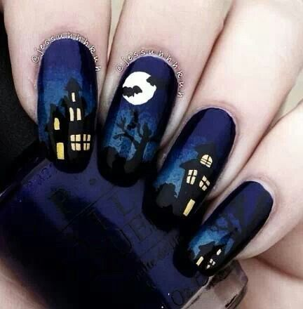 Spooky nails