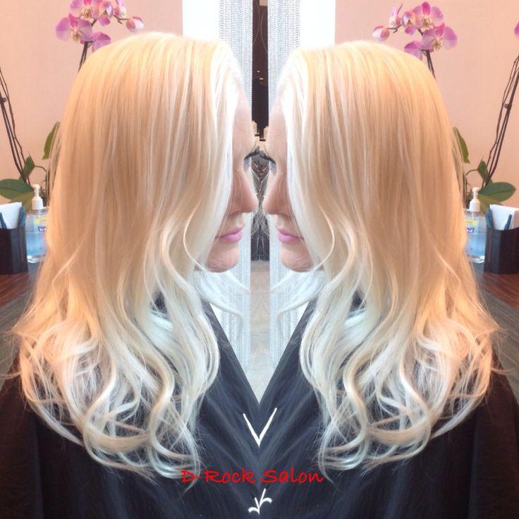 Icey platinum blond   | ombré | balayage | soft waves | blond high lights | fall colors |  Great hair and services live at D-Rock Salon, Fairfax | 703-293-9400 Drocksalon.com