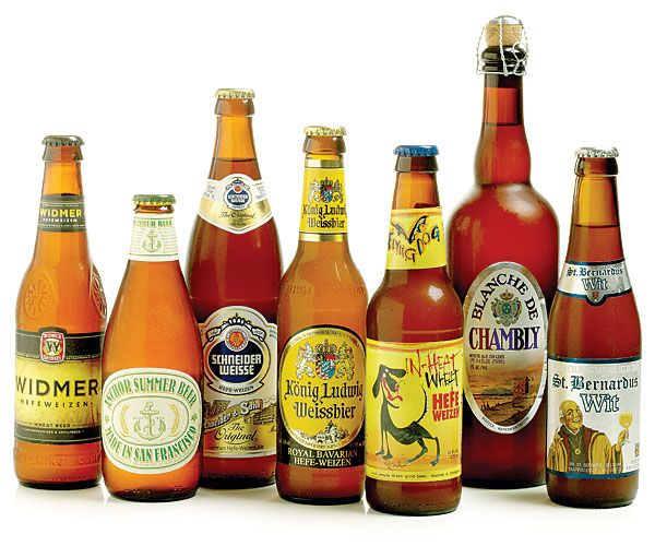 Guide to Wheat Beers: The three basic types of wheat beer are: citrusy, malty American style; hearty banana-and-clove Bavarian style; and the light bitter-orange-and-coriander Belgian style. Check out our FineCooking.com top picks in each category.