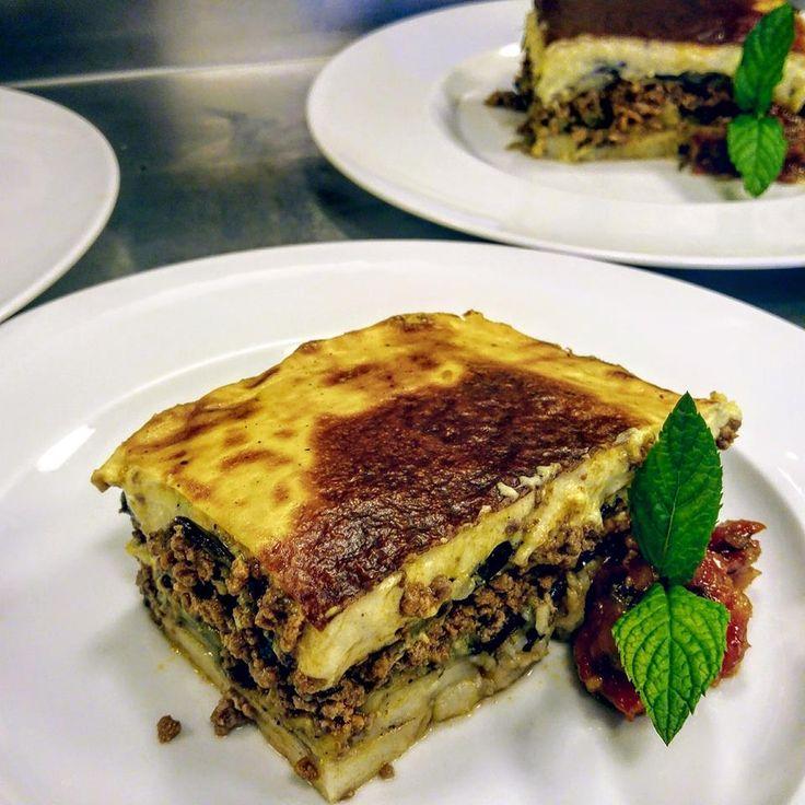 Greek Mousaka Mnistires Restaurant Odyssey hotel