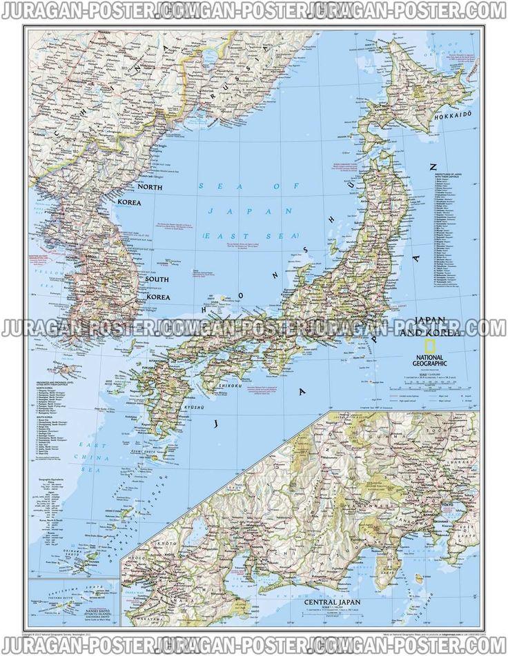 Best Jual Peta Jepang Dan Korea Images On Pinterest Korea - Japan map poster