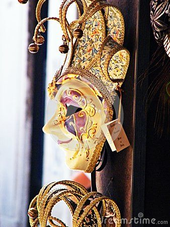 Typical mask of the Carnival of Venice Italy