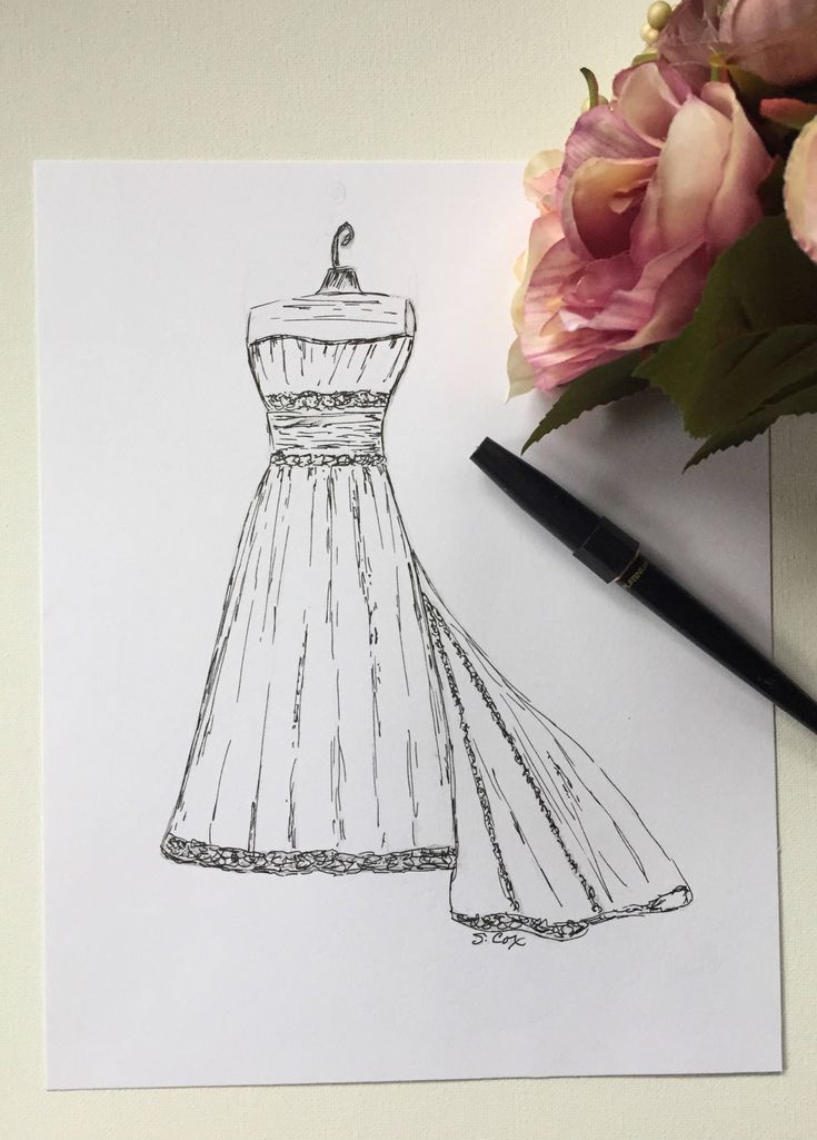 Excited to share the latest addition to my #etsy shop: Custom wedding dress drawing, Bridal illustration, Ink Wedding art, Bridal gown sketch, Custom Wedding present #bridalillustration #inkweddingart #customwedding #weddingpresent #drawing #wedding