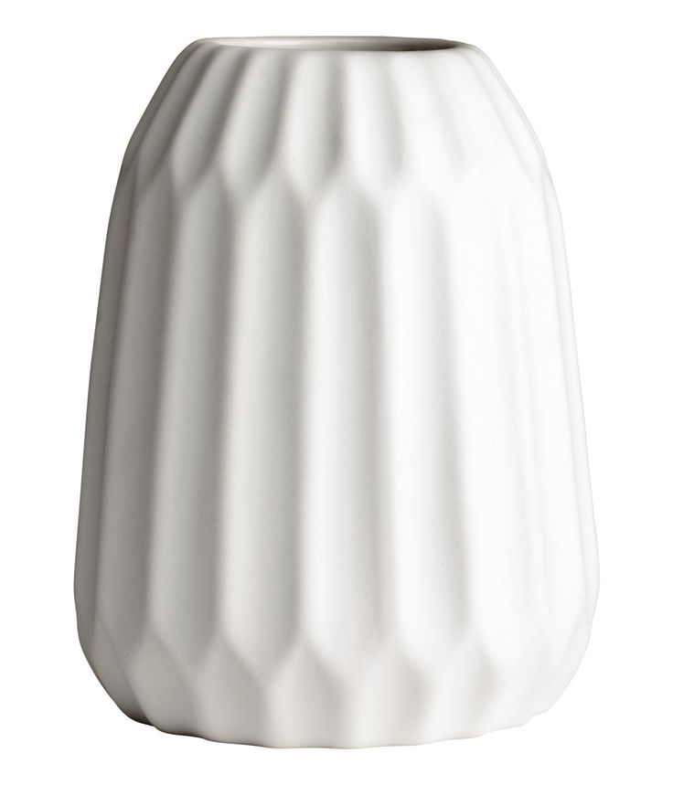 Strukturmönstrad vas | Vit | Home | H&M SE | New apartment