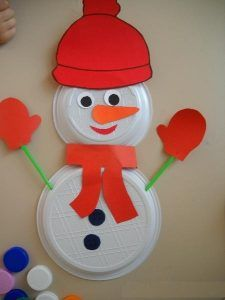 free-paper-plate-snowman-craft-idea | Crafts and Worksheets for Preschool,Toddler and Kindergarten