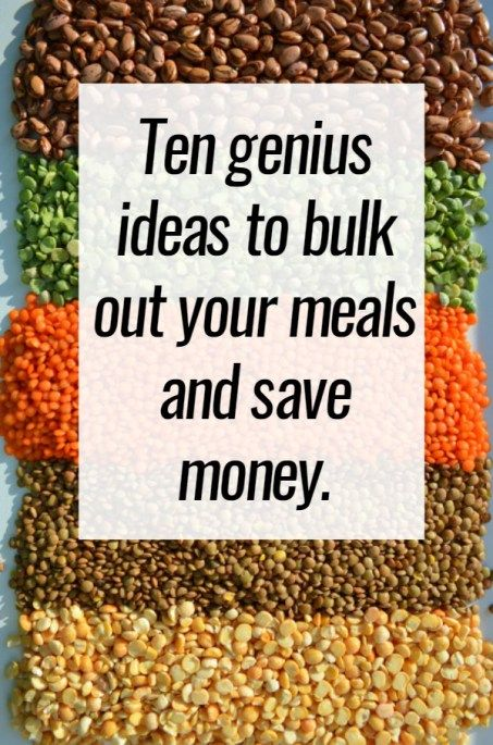 Ten genius ideas to bulk out your meals and save money.